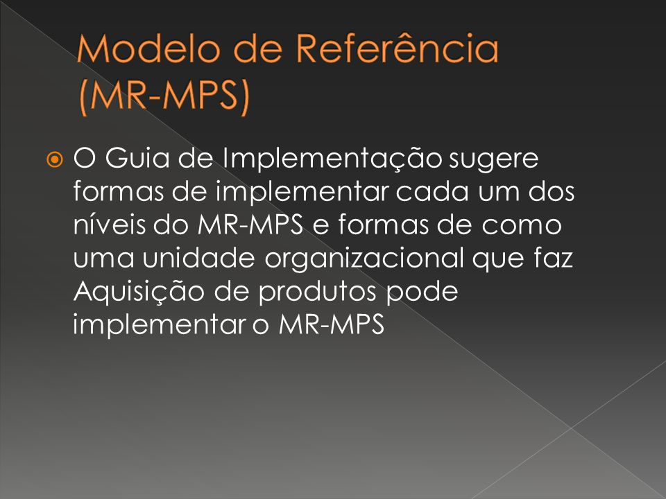 Modelo de Referência (MR-MPS)