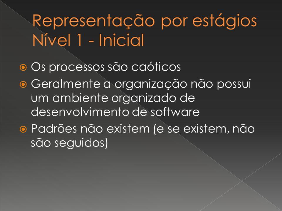 Representação por estágios Nível 1 - Inicial