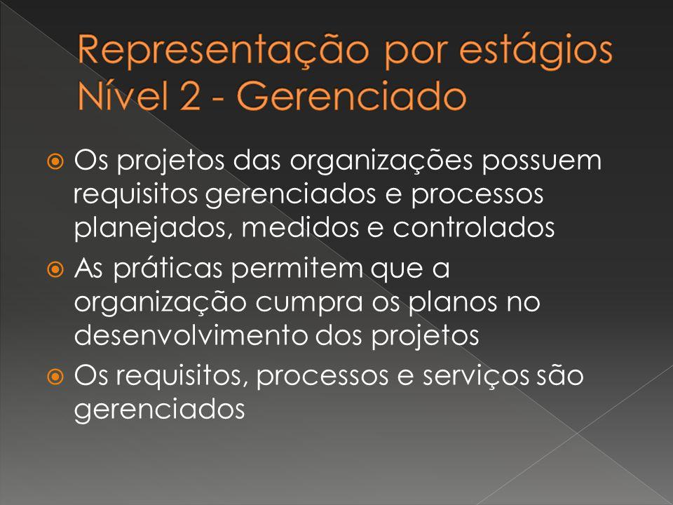 Representação por estágios Nível 2 - Gerenciado