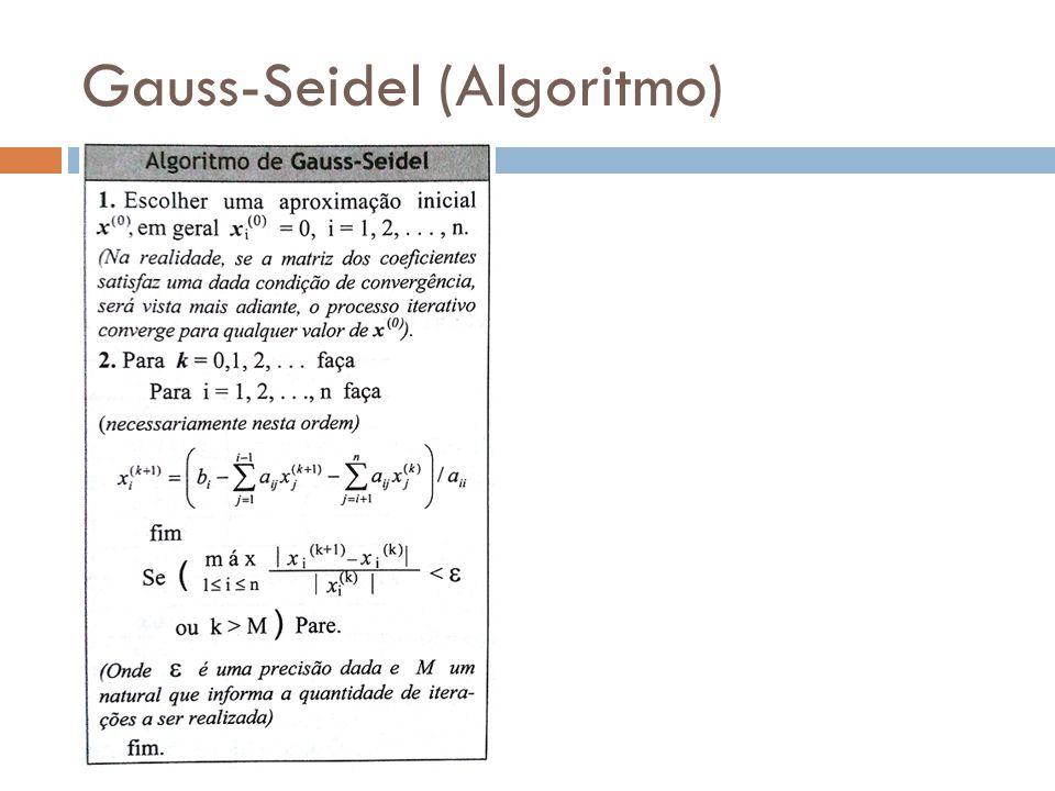 Gauss-Seidel (Algoritmo)