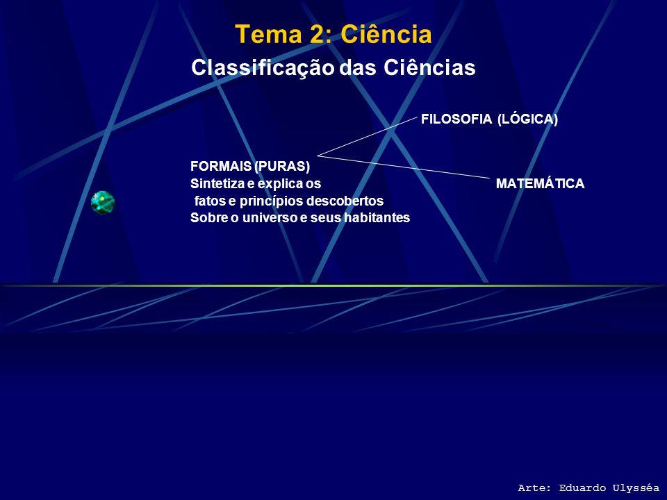 Classificação das Ciências Sintetiza e explica os MATEMÁTICA