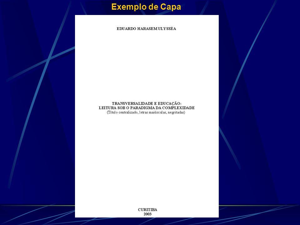 Exemplo de Capa