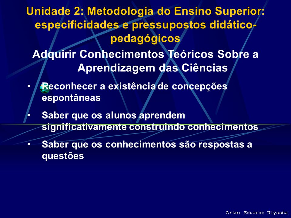 Adquirir Conhecimentos Teóricos Sobre a Aprendizagem das Ciências