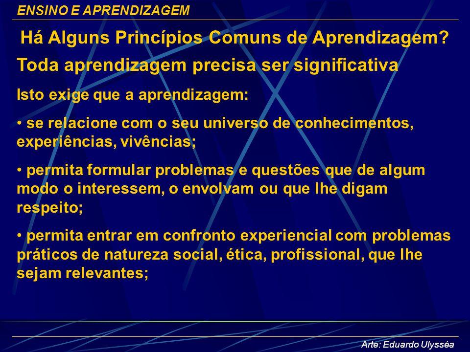Há Alguns Princípios Comuns de Aprendizagem
