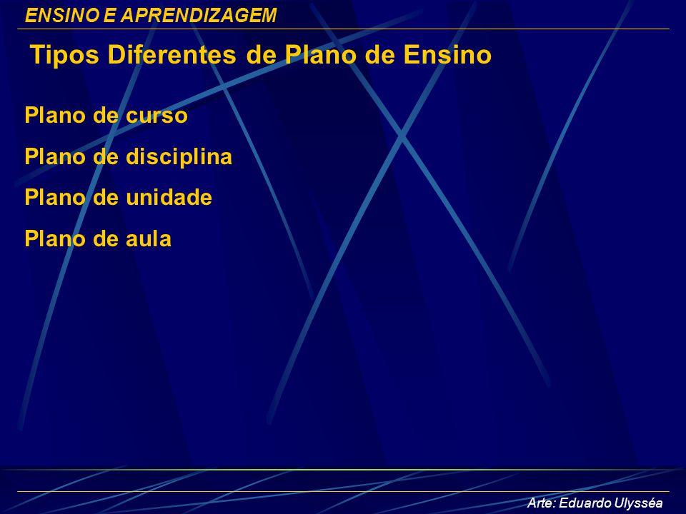 Tipos Diferentes de Plano de Ensino