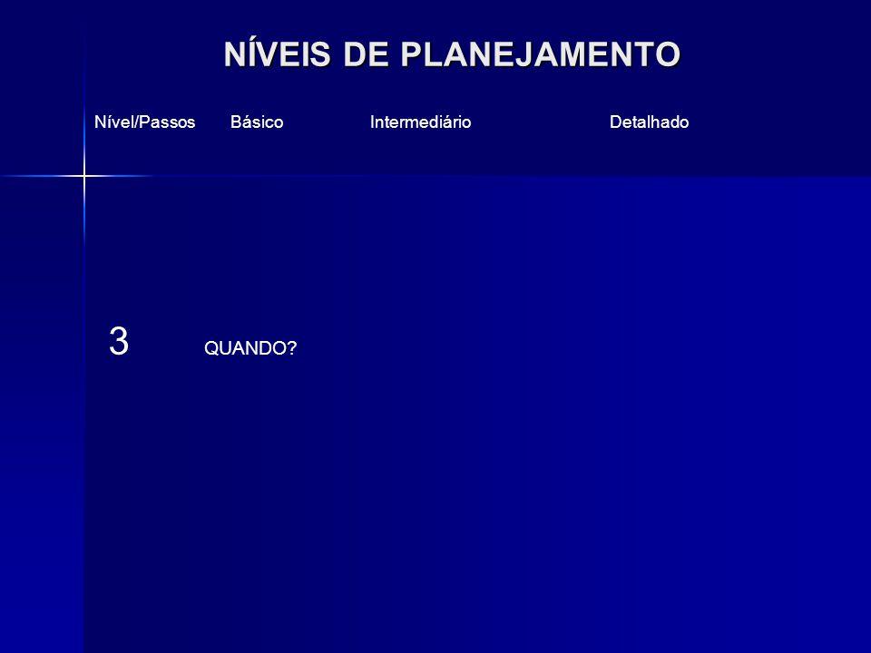 NÍVEIS DE PLANEJAMENTO