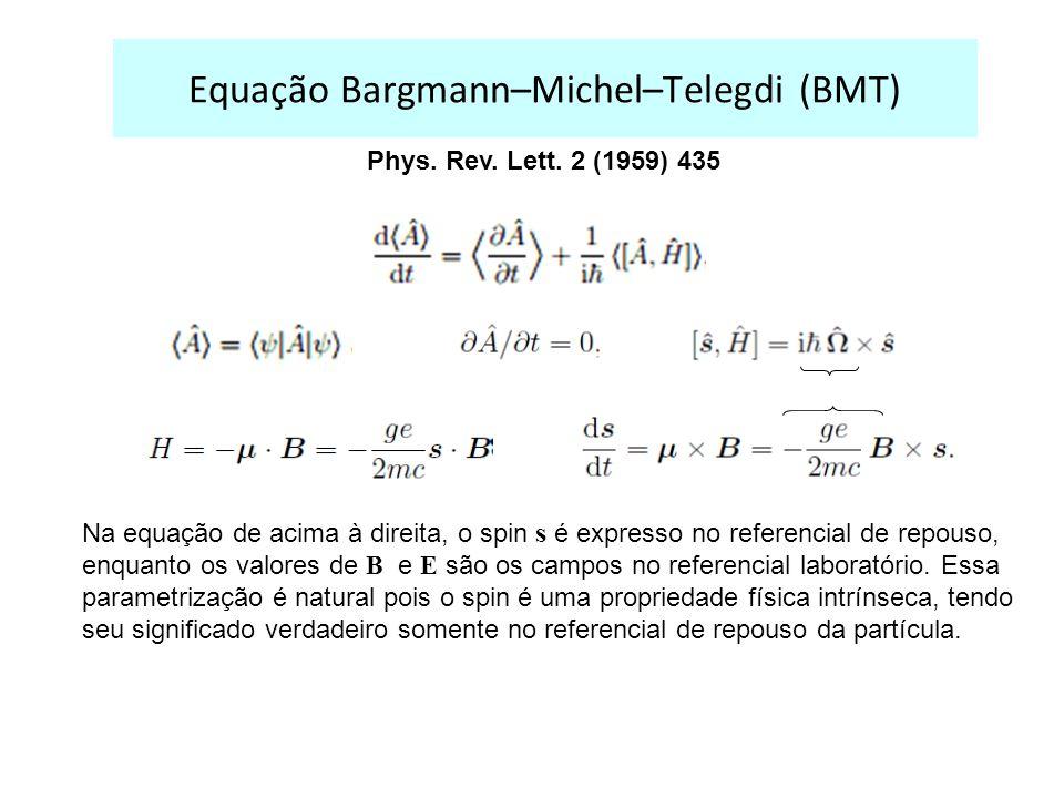 Equação Bargmann–Michel–Telegdi (BMT)