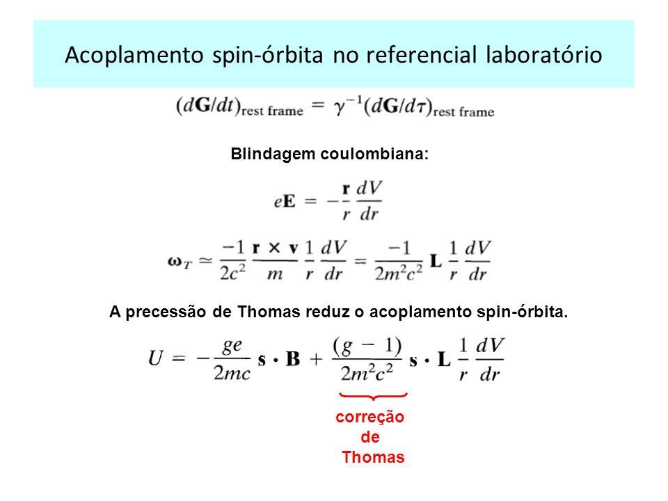 Acoplamento spin-órbita no referencial laboratório