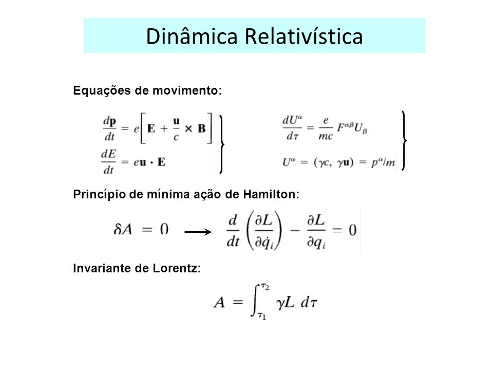 Dinâmica Relativística
