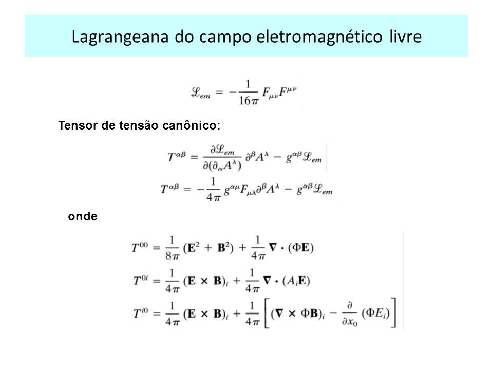 Lagrangeana do campo eletromagnético livre