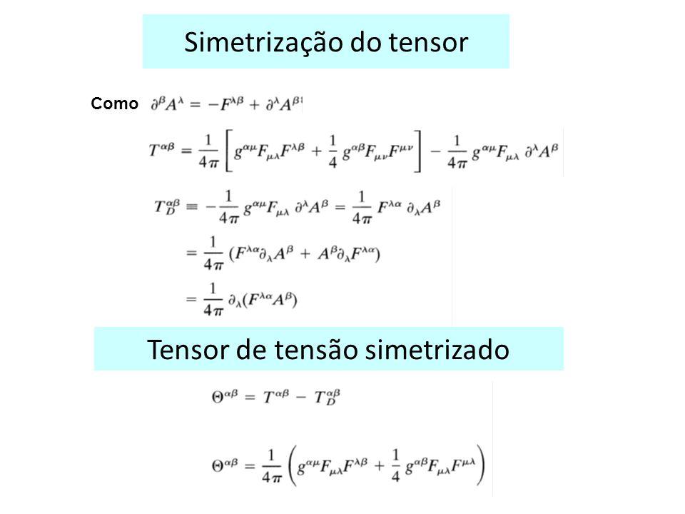 Simetrização do tensor