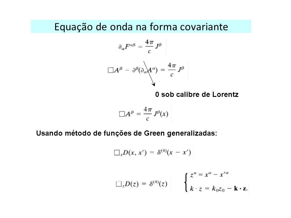 Equação de onda na forma covariante