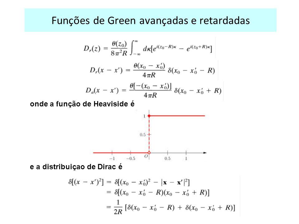 Funções de Green avançadas e retardadas