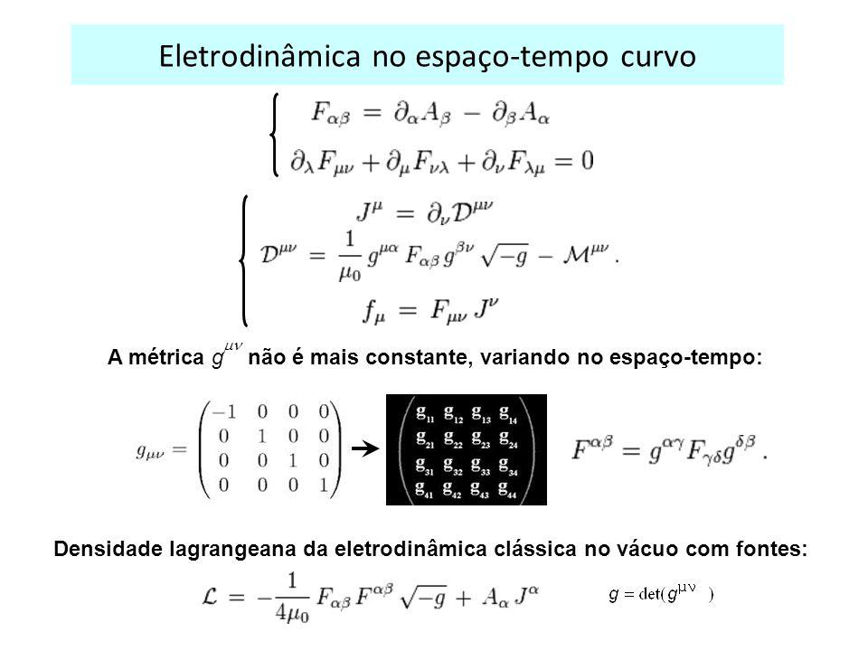 Eletrodinâmica no espaço-tempo curvo