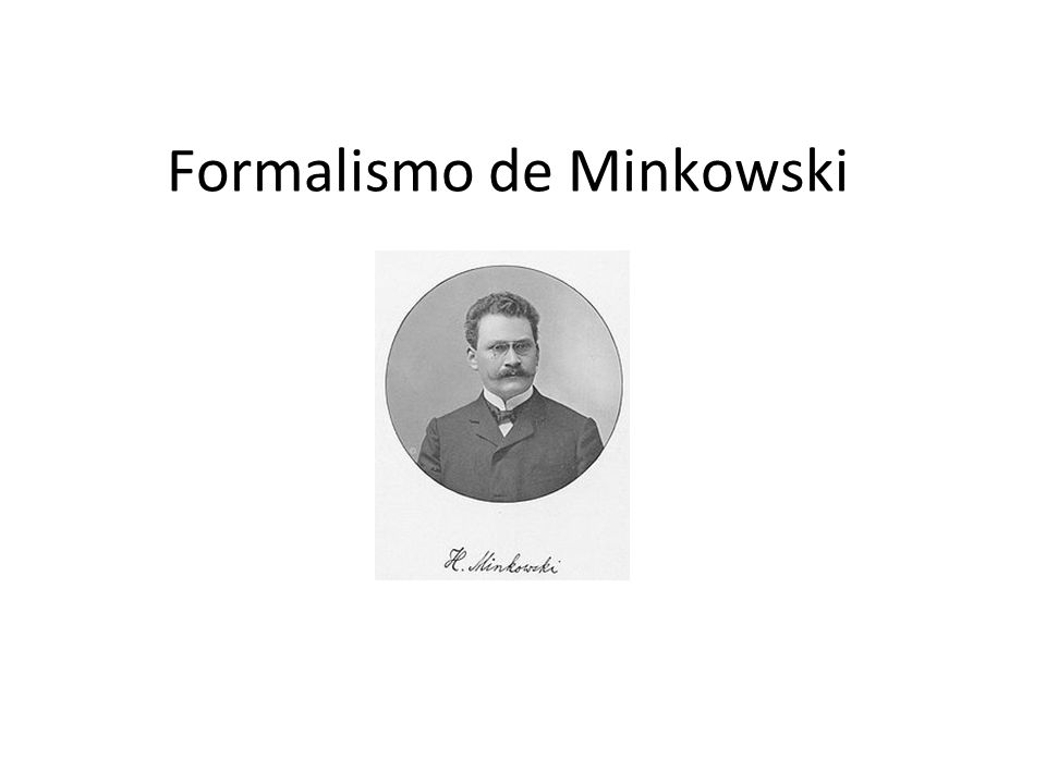 Formalismo de Minkowski