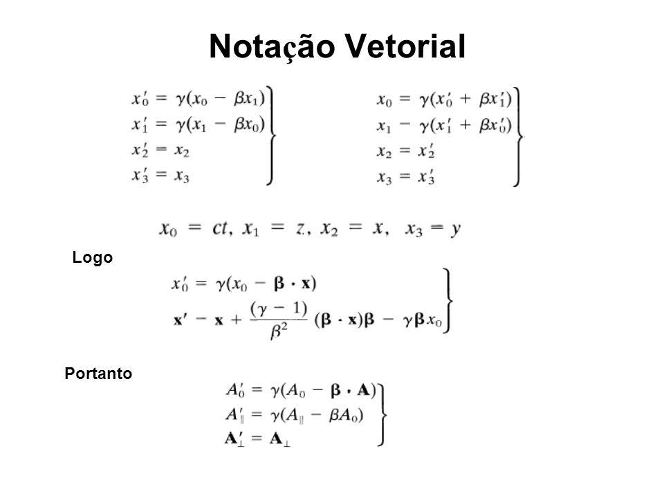 Notação Vetorial Logo Portanto