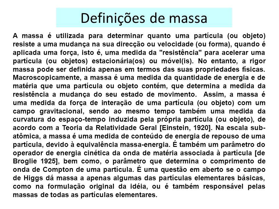 Definições de massa