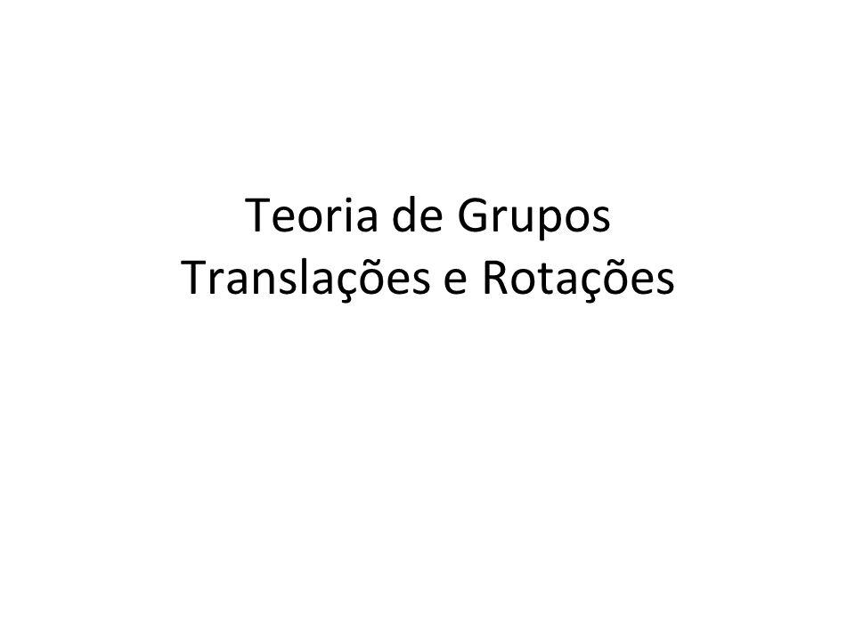 Teoria de Grupos Translações e Rotações
