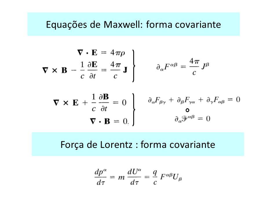 Equações de Maxwell: forma covariante