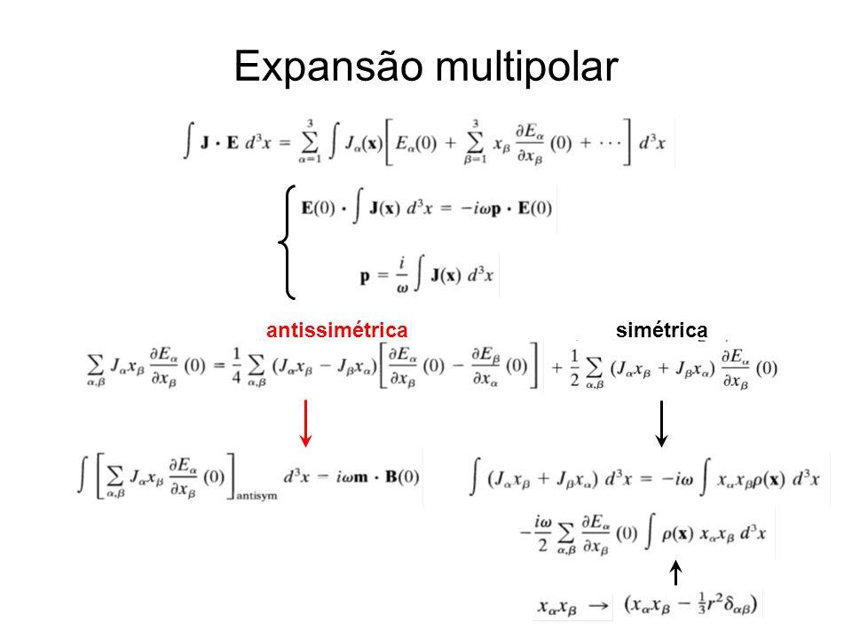 Expansão multipolar antissimétrica simétrica