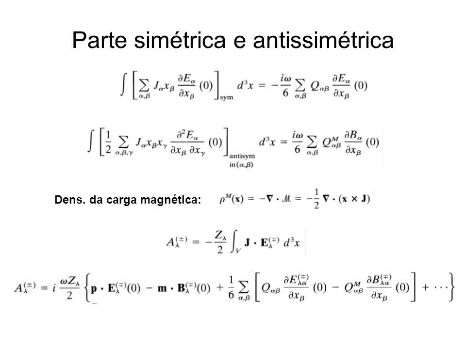 Parte simétrica e antissimétrica
