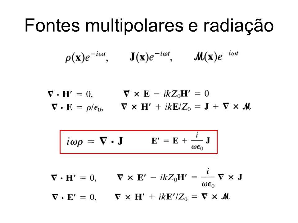 Fontes multipolares e radiação