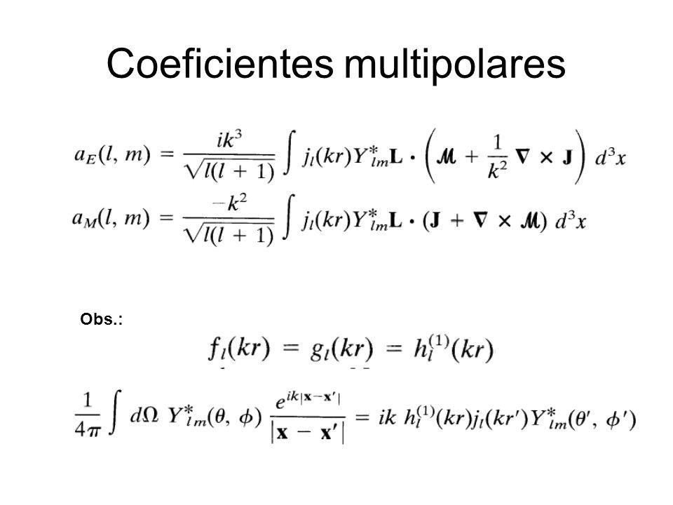 Coeficientes multipolares