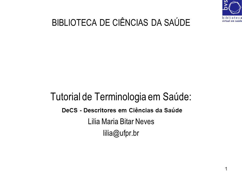 BIBLIOTECA DE CIÊNCIAS DA SAÚDE