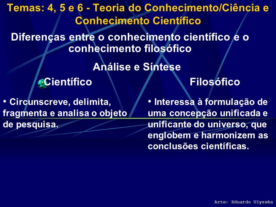 Diferenças entre o conhecimento científico e o conhecimento filosófico