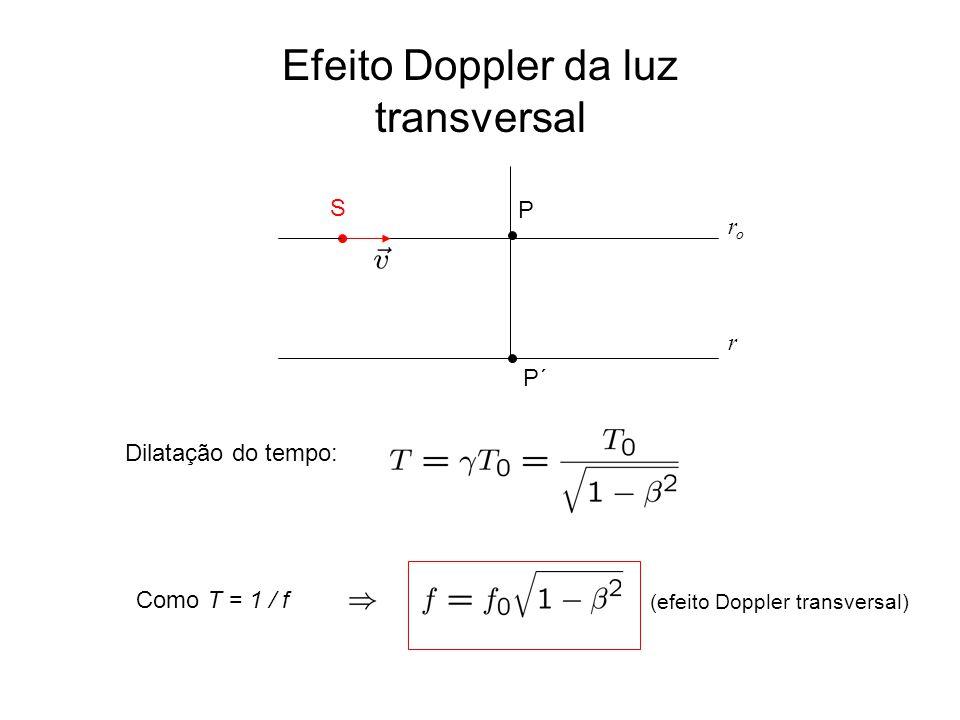 Efeito Doppler da luz transversal