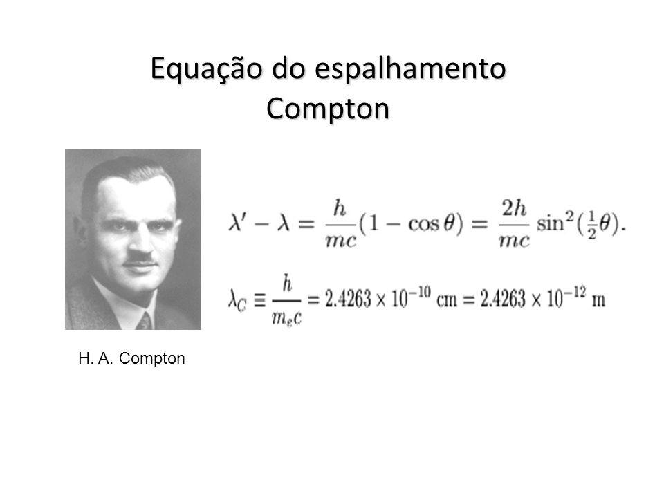 Equação do espalhamento Compton