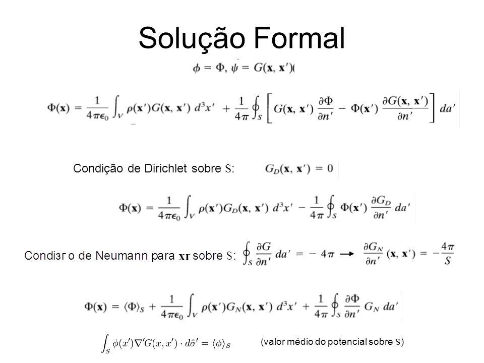 Solução Formal Condição de Dirichlet sobre S: