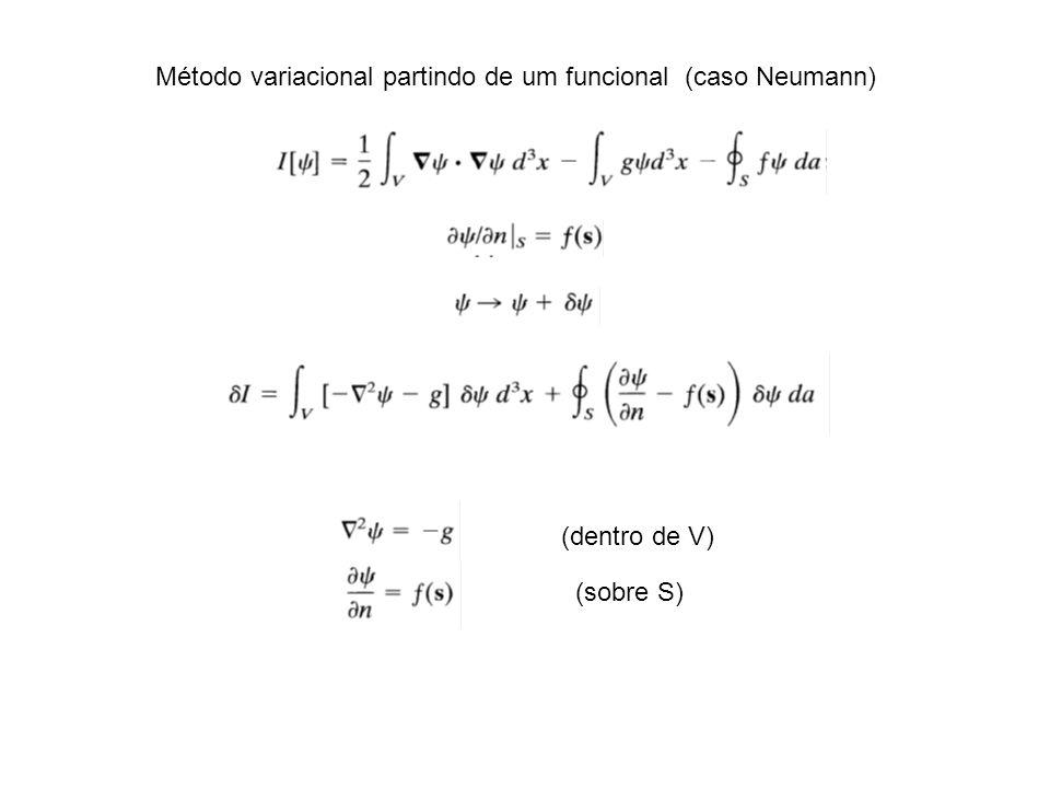 Método variacional partindo de um funcional (caso Neumann)