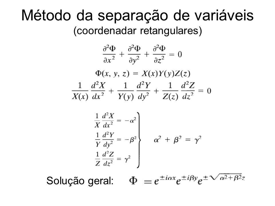 Método da separação de variáveis (coordenadar retangulares)