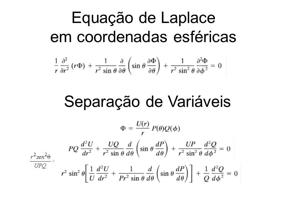 Equação de Laplace em coordenadas esféricas