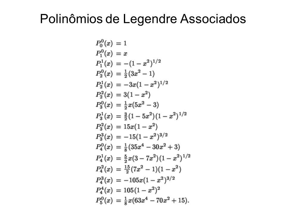 Polinômios de Legendre Associados