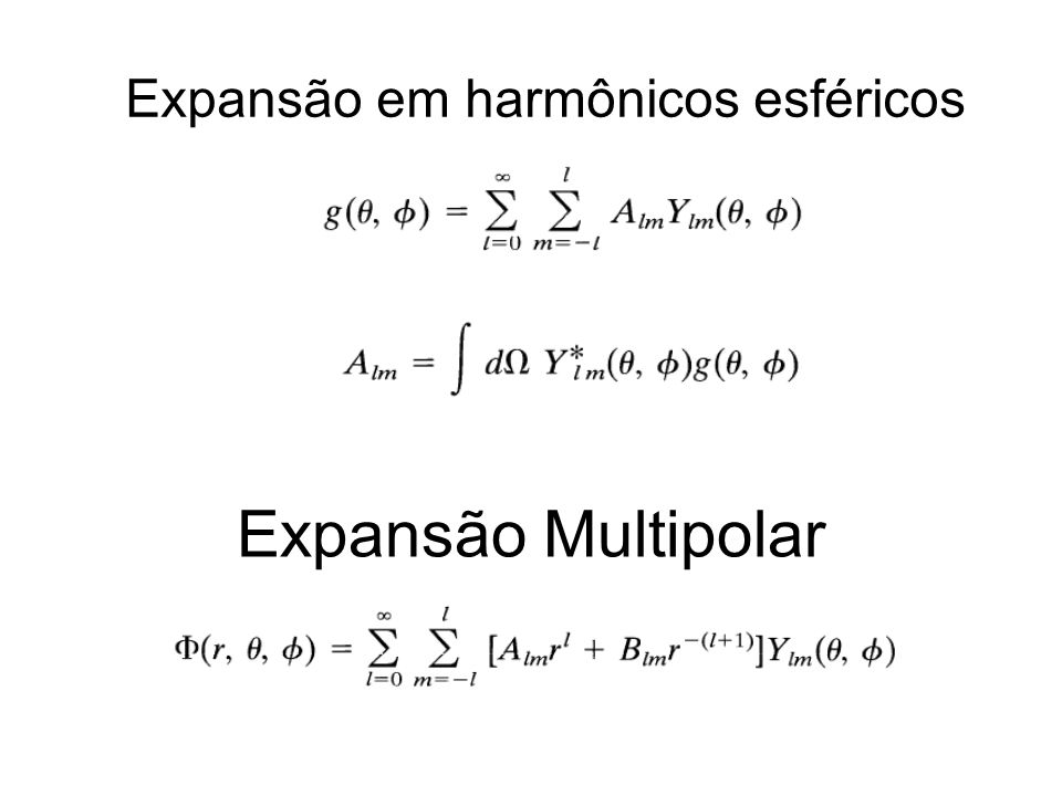 Expansão em harmônicos esféricos