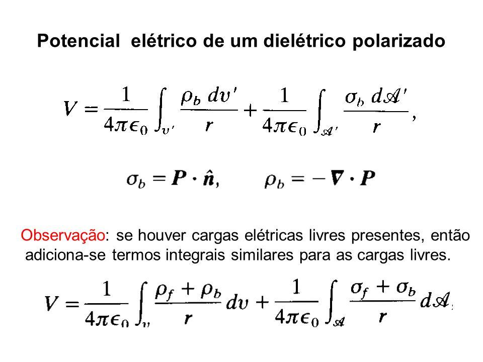 Potencial elétrico de um dielétrico polarizado