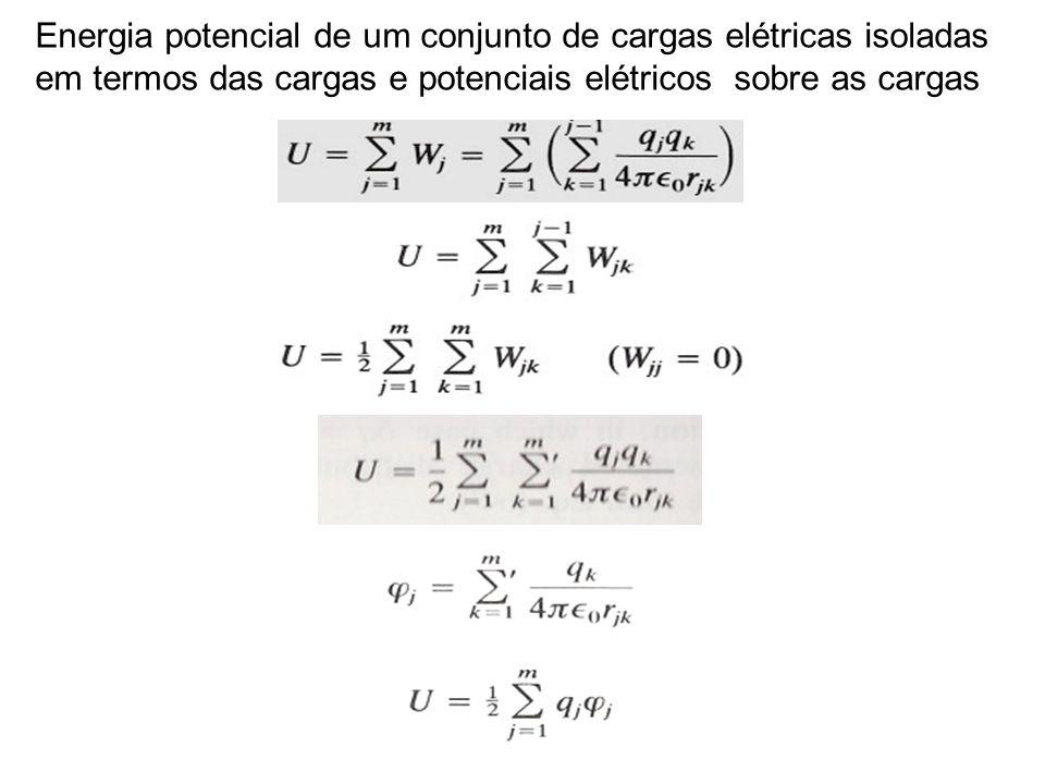 Energia potencial de um conjunto de cargas elétricas isoladas