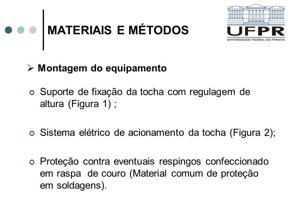 MATERIAIS E MÉTODOS Montagem do equipamento