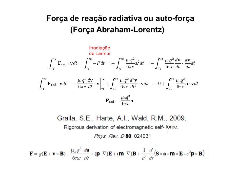Força de reação radiativa ou auto-força (Força Abraham-Lorentz)
