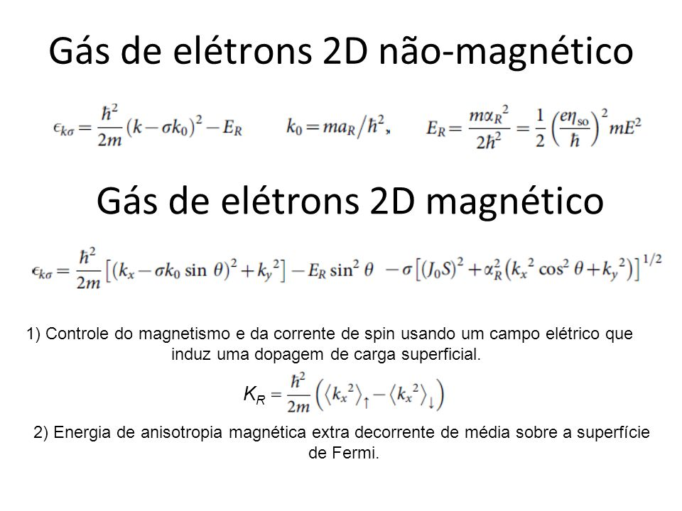 Gás de elétrons 2D não-magnético