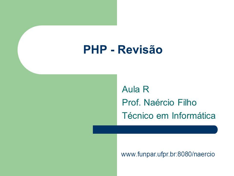 Aula R Prof. Naércio Filho Técnico em Informática