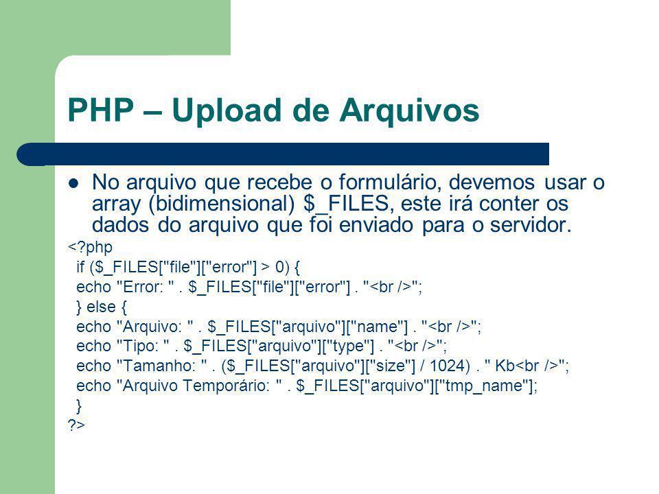 PHP – Upload de Arquivos