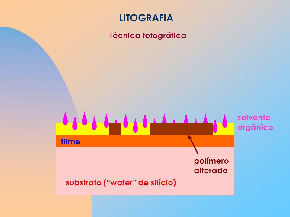 LITOGRAFIA Técnica fotográfica solvente orgânico filme