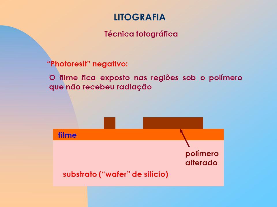 LITOGRAFIA Técnica fotográfica Photoresit negativo: