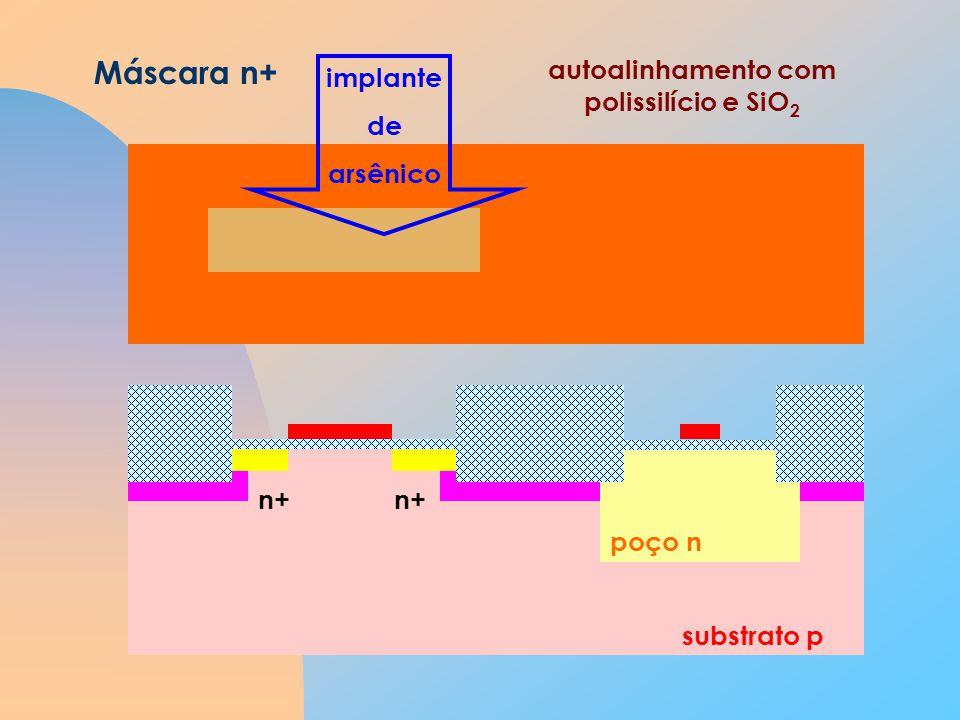 autoalinhamento com polissilício e SiO2