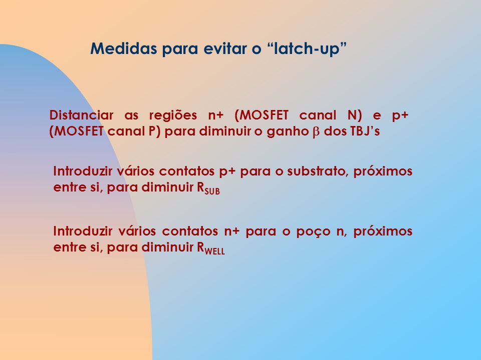 Medidas para evitar o latch-up