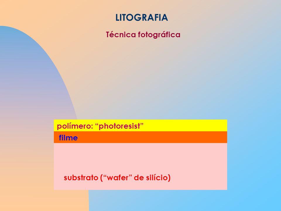 LITOGRAFIA Técnica fotográfica polímero: photoresist filme