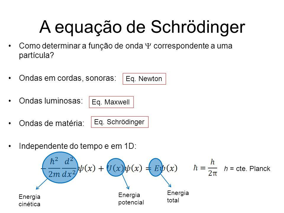 A equação de Schrödinger